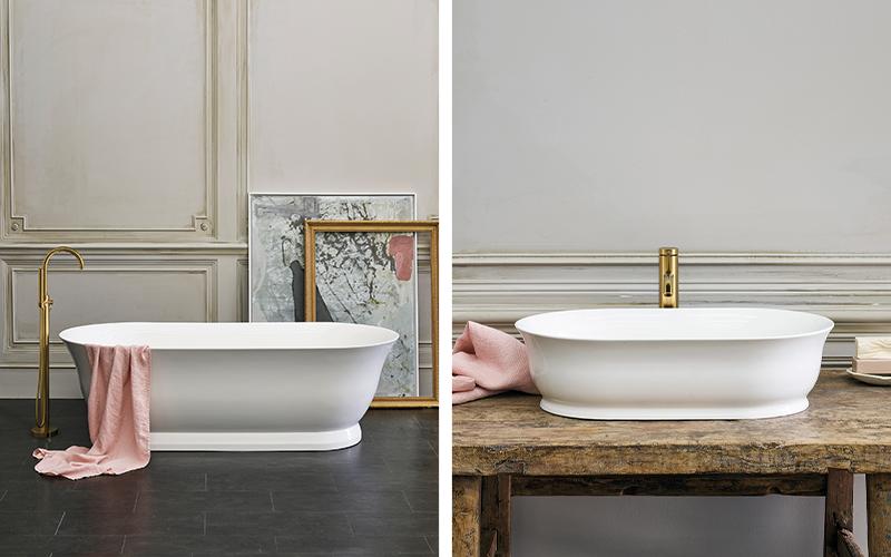 Spa Inspired Bathroom   Enhance your traditional bathroom with Florenza bath and matching basin for an elegant spa like bathroom design