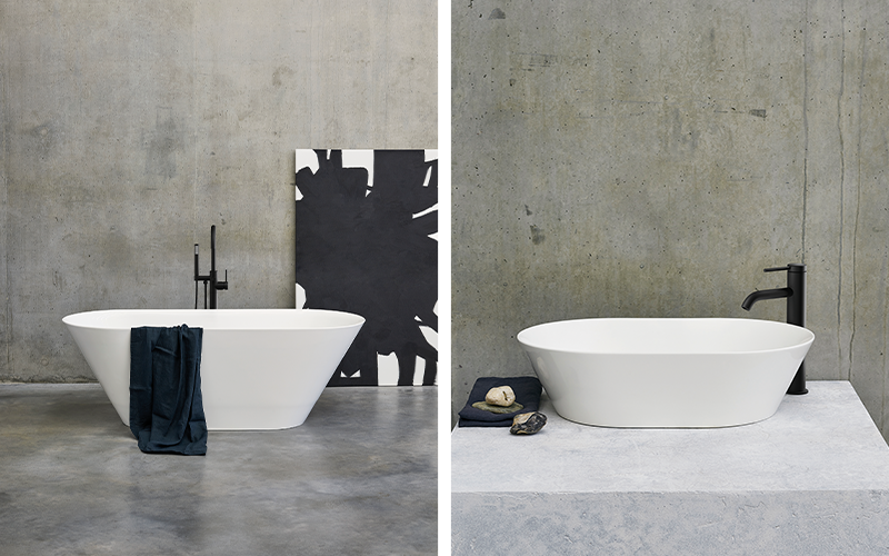Spa Inspired Bathroom   For a stylish and modern spa like bathroom design, introduce the Sontuoso bath and coordinating countertop basin