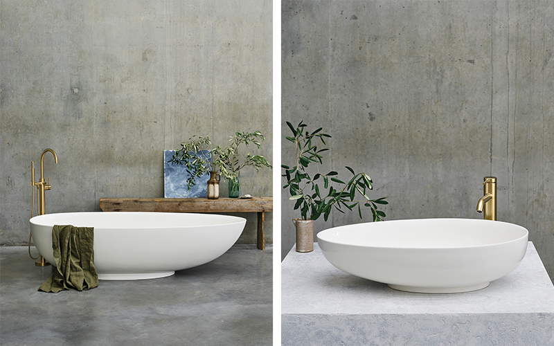 Spa Inspired Bathroom   Accentuate any spa like bathroom design with the Teardrop luxury freestanding bath and pair with Teardrop countertop basin for ultimate indulgence