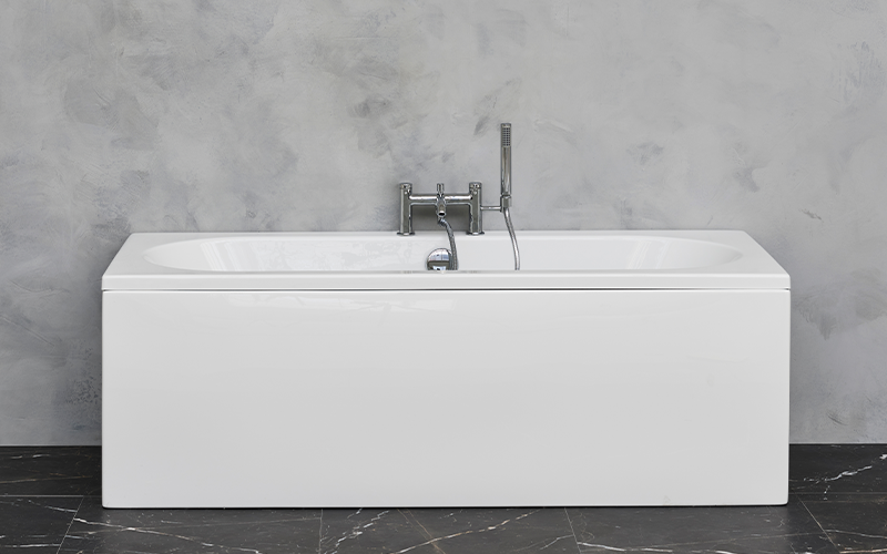 Spa Inspired Bathroom   Ideal for smaller bathrooms, the Verde bath brings a spa like bathroom design to any space