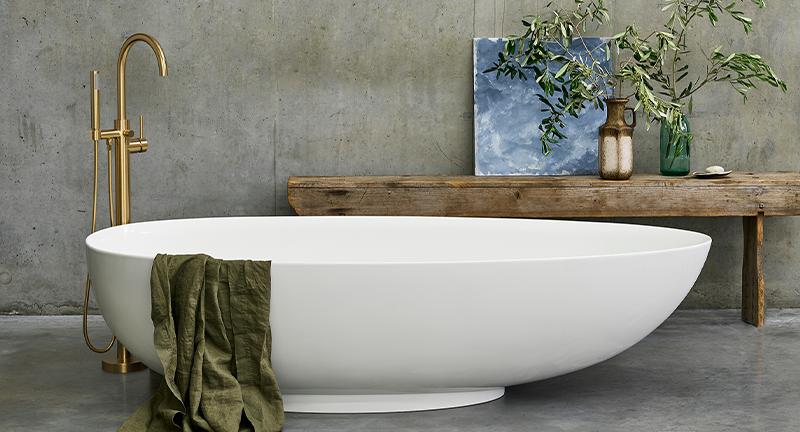 Modern Luxury Bathroom Design | Integrate opulence into your bathroom with the distinctive Teardrop Bath.